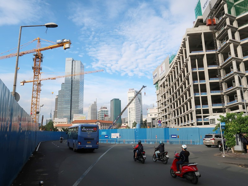 Construction view from Tran Hung Dao