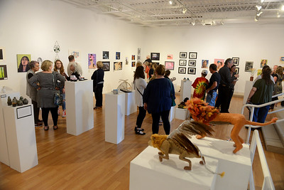 Tania Barricklo-Daily Freeman                      Area high schools, including Onteora, New Paltz, Ellenville and Rondout, are having their student's art featuerd at an exhibit titled 'Future Voices' at Suny Ulster in Stone Ridge in Vanderlyn Hall from June 2-15. An opening reception was held last Friday.