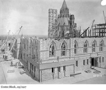 Centre Block - L'édifice du Centre, 05/1917