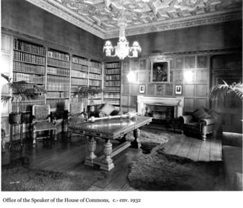 Office of the Speaker of the House of Commons - Bureau du Président de la Chambre des communes, c.- env. 1932