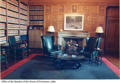 Office of the Speaker of the House of Commons - Bureau du Président de la Chambre des communes, 1989