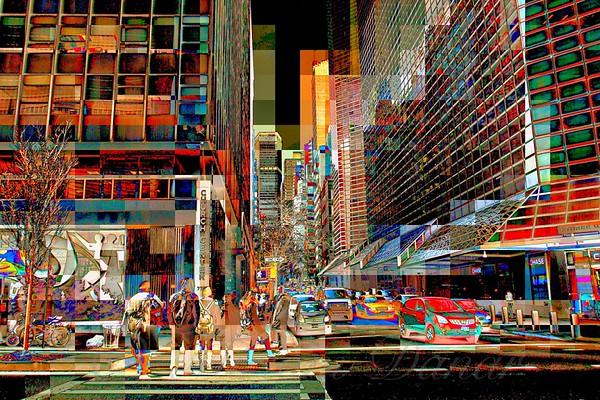 Street Crossing No. 43 - New York City Street Scene