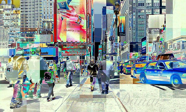 Seventh Avenue - New York City Street Scene, Pop-Style