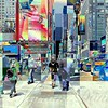 Seventh Avenue - New York City Street Scene, Pop-Style