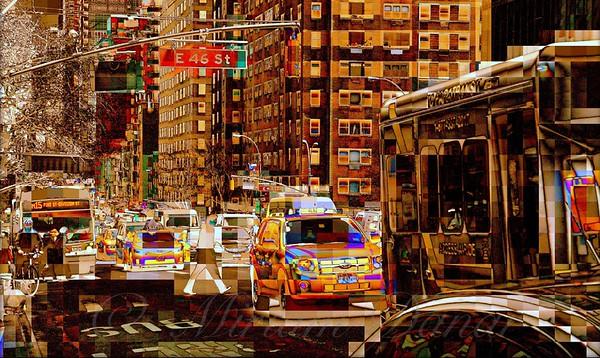 Rush Hour Traffic - New York City Street Scene