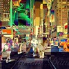 Seventh Avenue - New York City Street Scene, Pop-Style - Reverse color