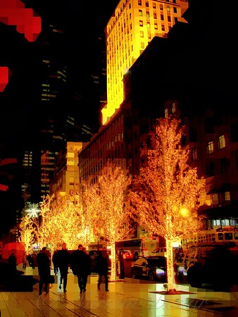 Christmas in New York - Trees and Star