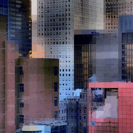 "New York City Skyline No. 3 - Skyline and Architecture of New York City - ""City Blocks - Building Blocks"" series"