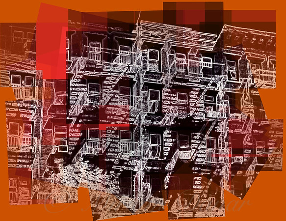 Emergence - Old Buildings and Fire Escapes of New York City