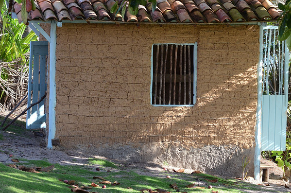 Our chicken coop hand built in the traditional waddle and daub building method of the Brazilian North East.