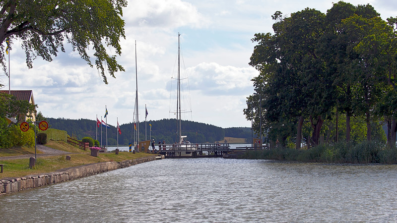 Göta channel sailing , Sweden