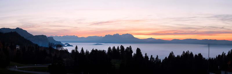 Ammenegg oberhalb von Dornbirn nach Sonnenuntergang