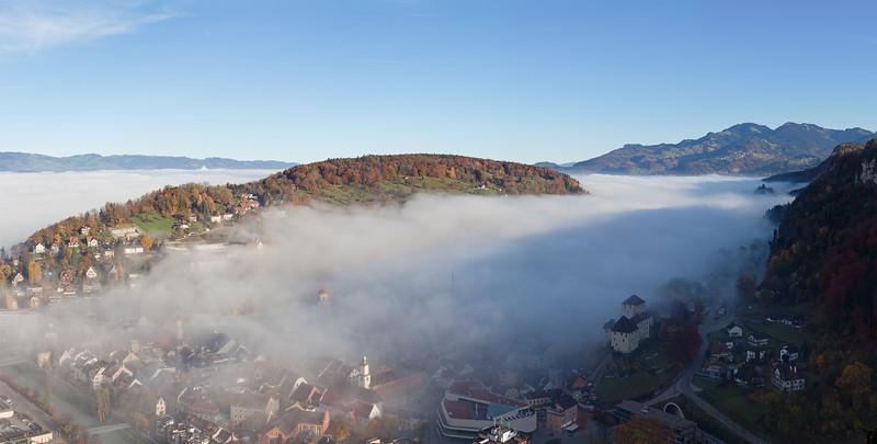 Feldkirch vom Stadtschorfen im Herbst