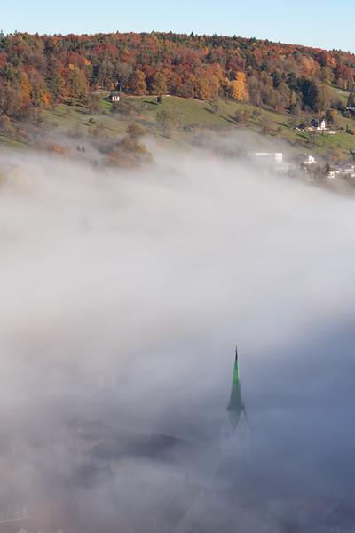 Feldkircher Dom vom Stadtschorfen im Herbst