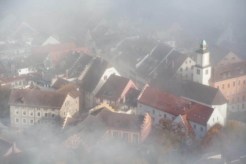 Feldkircher Altstadtdetail vom Stadtschorfen im Herbst
