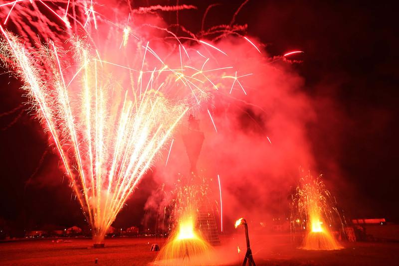 Funkenbrennen mit Feuerwerk in Hohenems (Schwefel)