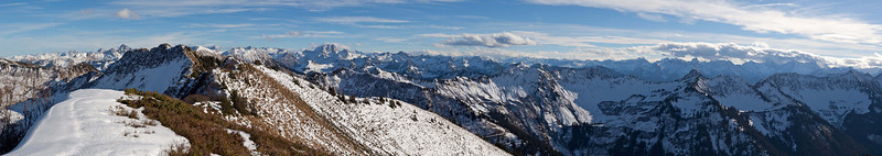 Gehrenfalben Richtung Rote Wand und Silvretta