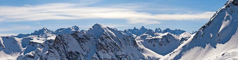 Silvretta Richtung Seehorn und Litzner