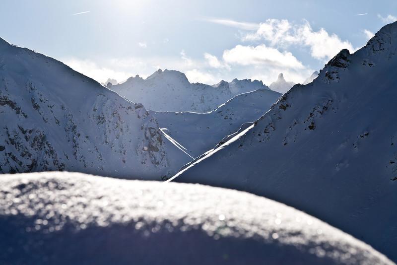 Silvretta mit Blick auf Litzner und Seehorn