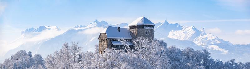 Mittelalterliches Schloss Glopper