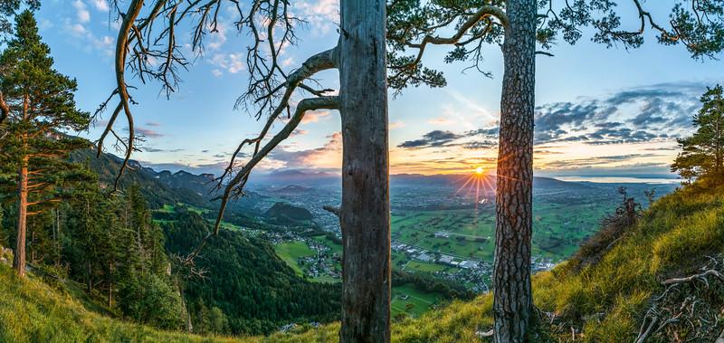 Am Breiten Berg oberhalb von Hohenems