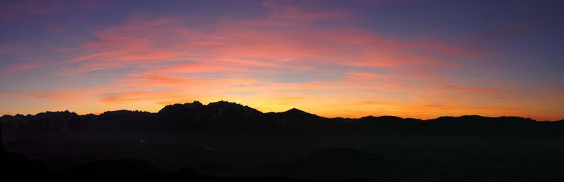 Kapf bei Götzis mit Blick auf schweizer Berge