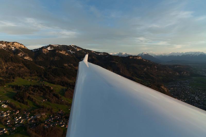 Im Segelflugzeug über Emser Rütte