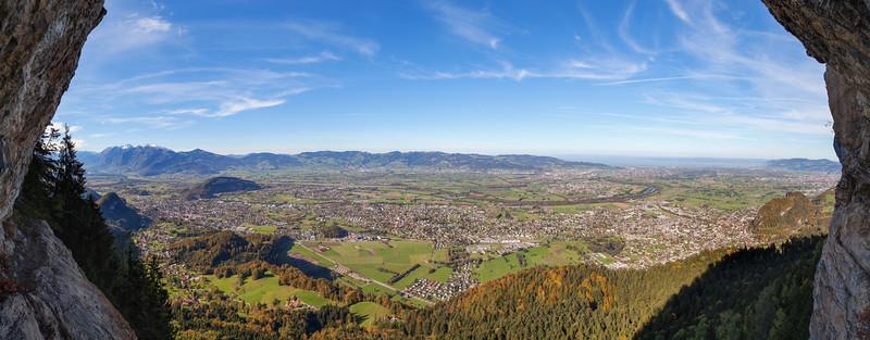 Rheintal vom Kapf Klettersteig