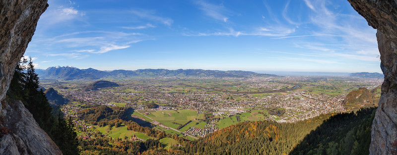 Rheintal vom Kapf Klettersteig II 200x75