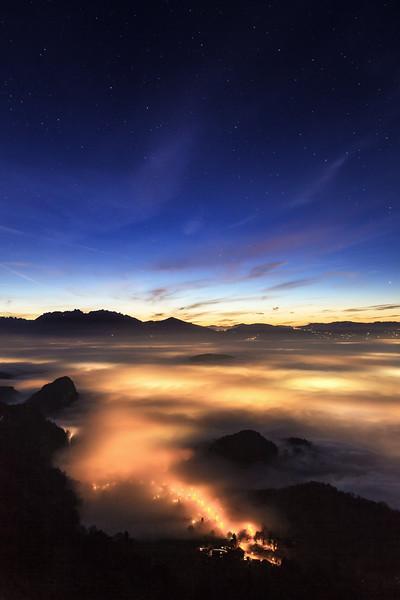Nebelmeer oberhalb von Götzis