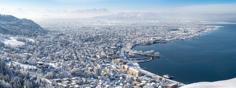 Panorama Bregenz vom Haggen