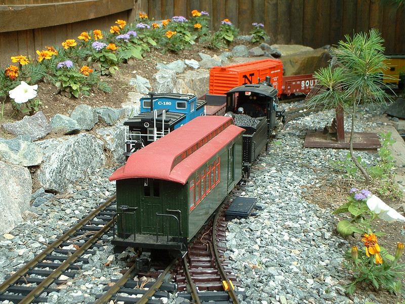 "Passing Track: Tourist Train Passes The Local On The ""Long Siding"""