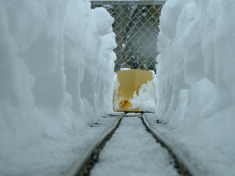 Plowing Snow Deeper Than Train