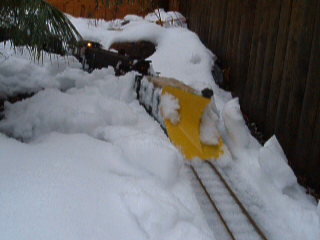 Plow on Headend Of The Local Freight