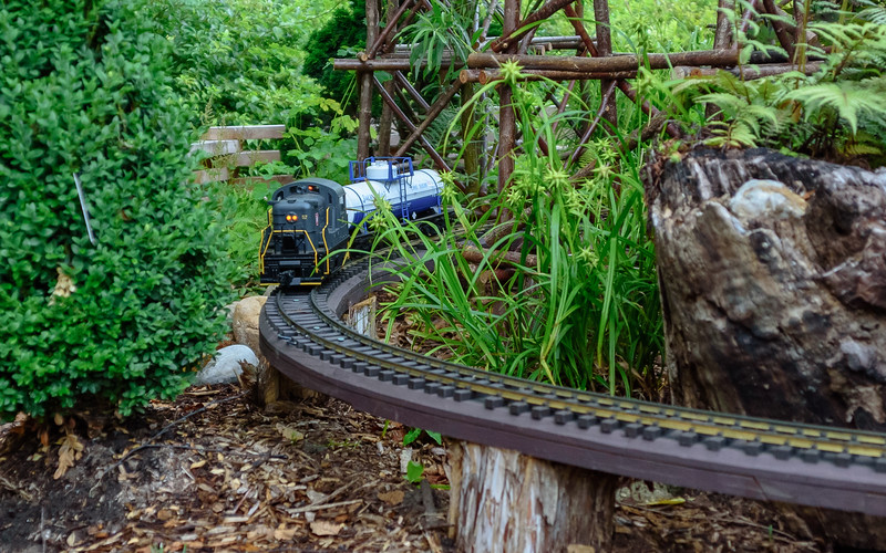 train garden at Fernwood Botanical Garden and Nature Preserve