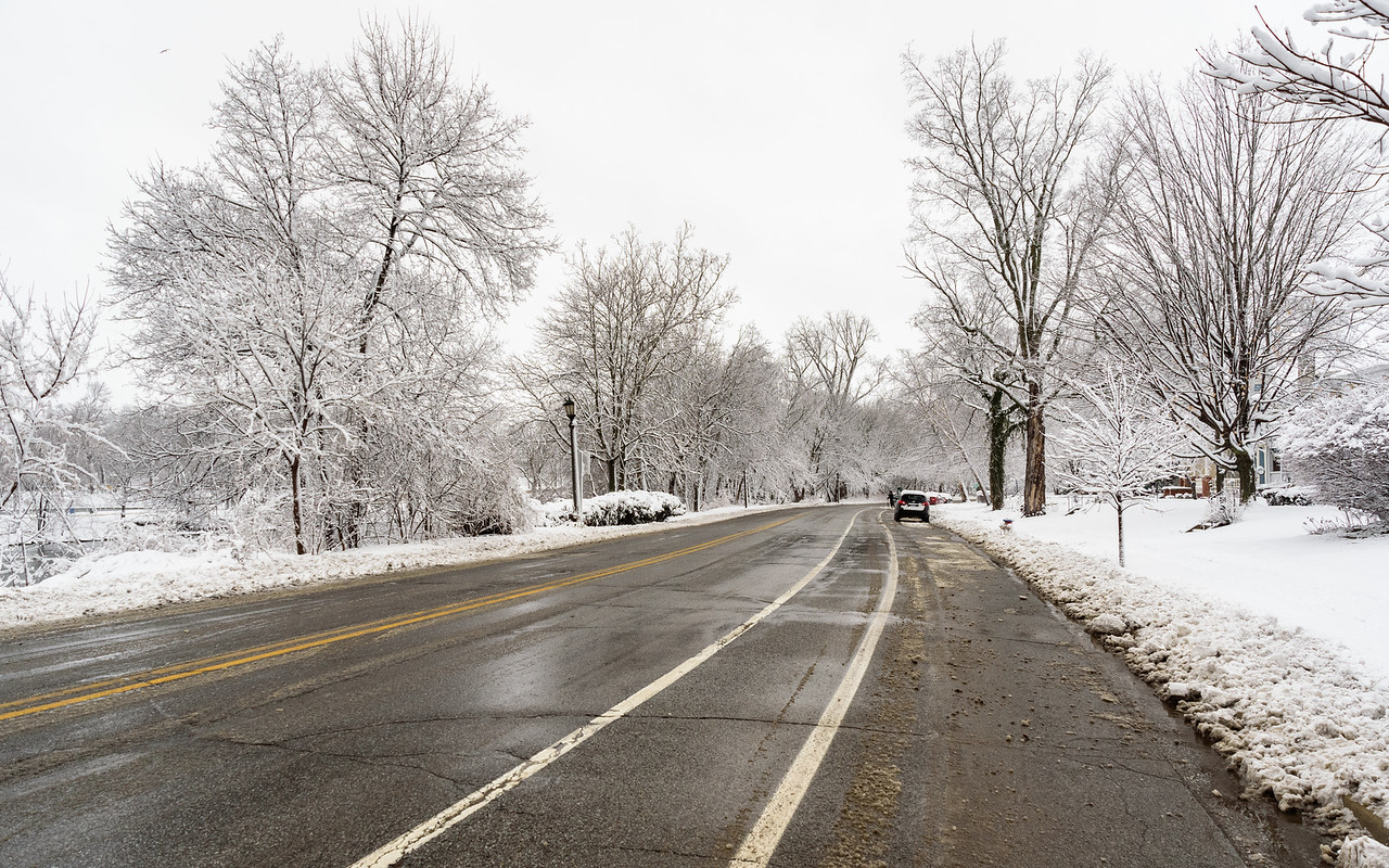 road to white wonderland at South Bend, IN