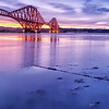 Forth Rail Bridge at dawn.<br /> from the north to the south.<br /> Queensferry Edinburgh scotland  <br /> The actual name for this bridge is the forth bridge but its commonly known as the forth rail bridge.<br /> Fine art prints stunning colours for any wall