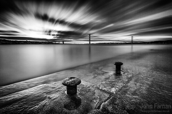 Forth Road Bridge from Hawes Pier