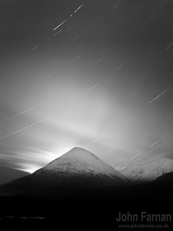 Long exposure star trails