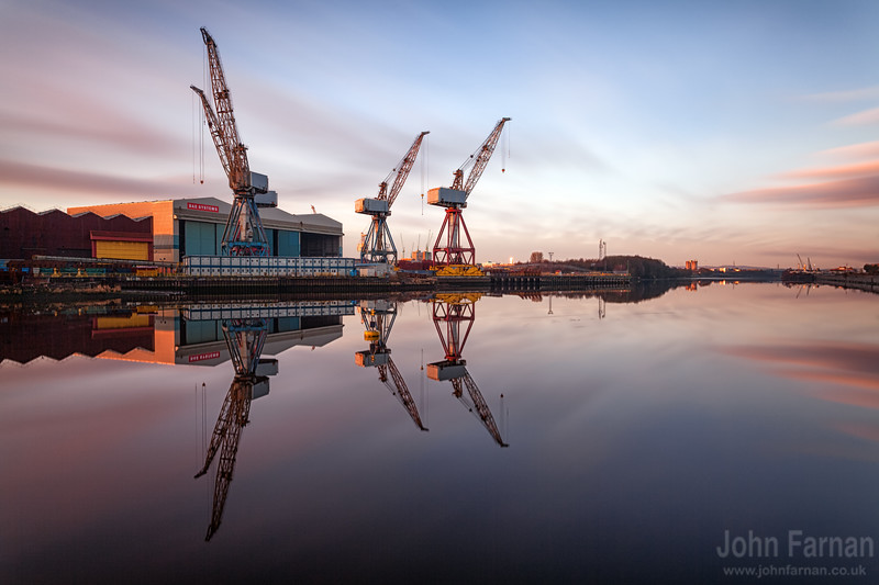The iconic cranes on the clyde