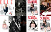 JEAN PAUL GAULTIER Scandal 2017 Spain (glossy 8-page foldout forming a sheath for a set of magazines, with liquatouch card)