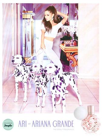 Ari by ARIANA GRANDE 2016 Germany (Douglas stores) 'Neu & nur bei Douglas - The debut fragrance'<br /> <br /> MODEL: Ariana Grande (US actress & singer)