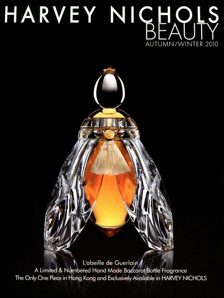 L'Abeille de GUERLAIN 2010 Hong Kong (Harvey Nichols stores) 'A  Limited & Numbered Hand Made Baccarat Bottle Fragrance - The Only One Piece in Hong Kong and Exclusively Available at Harvey Nichols'