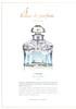 GUERLAIN Les Quatres Saisons Limited Edition (L'Hiver) 2016 France '4 Eaux de parfum - musc vert boisé - Éditiom limitée à 21 éxemplaires''