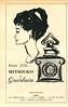 GUERLAIN Mitsouko 1954  France quarter page 'Pour elle...'