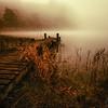 Loch Ard early mist landscape