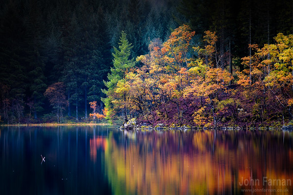 Loch Ard in the early soft Autumnal post dawn light