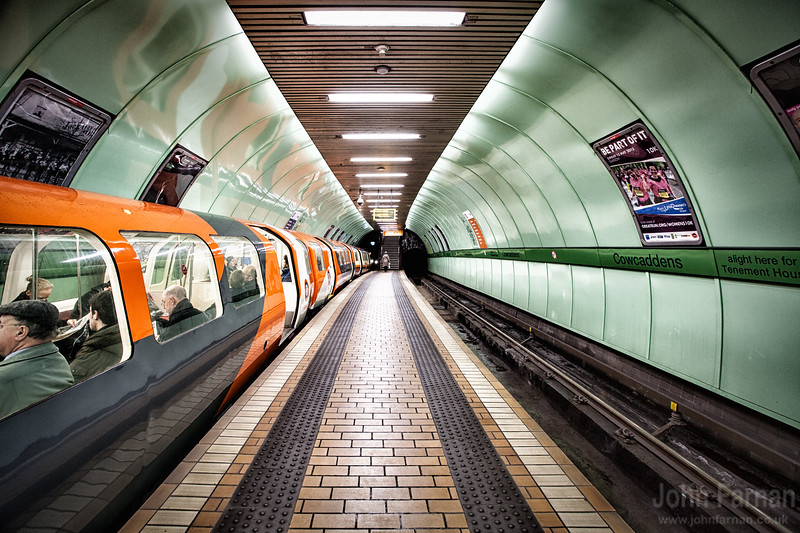 Glasgow Subway print Clock Work Orange Glasgow A Stunning Glasgow Print Also available as a fine art canvas or wonderfully evocative acrylic print.Glasgow has never looked better All images are printed just outside Glasgow and delivered anywhere in the world