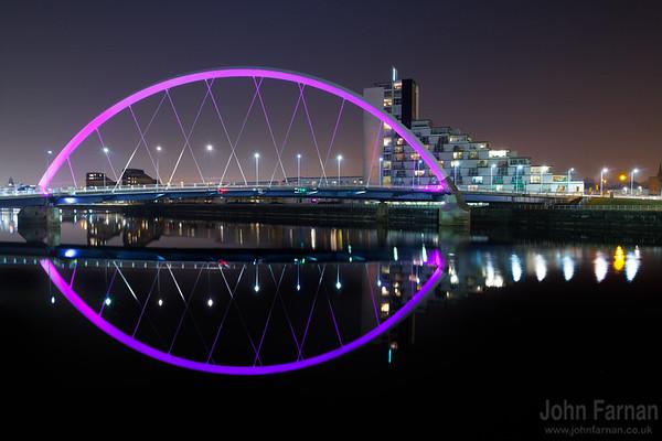 Squinty Bridge Glasgow by night