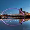 A Stunning Glasgow Print  Also available as a fine art canvas or wonderfully evocative acrylic print. Glasgow has never looked better  All images are printed just outside Glasgow and delivered anywhere in the world Clyde Arc in the morning sun. Stunning Glasgow image with a perfectly still Clyde River